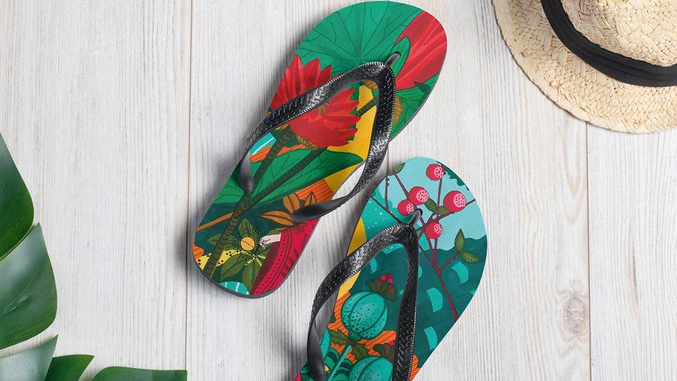 """Japanese garden"" - Flip-Flops"