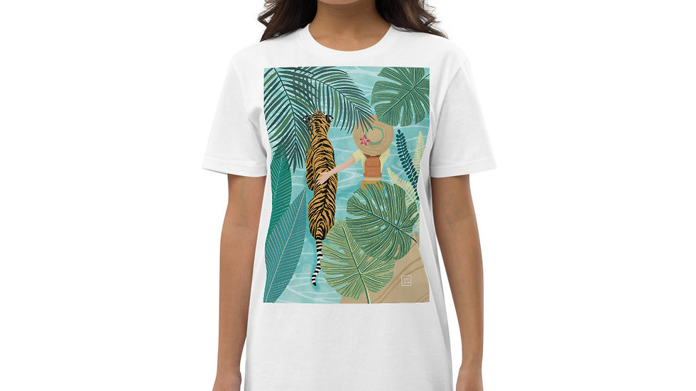"""Tiger travel companion"" - Organic cotton t-shirt dress"