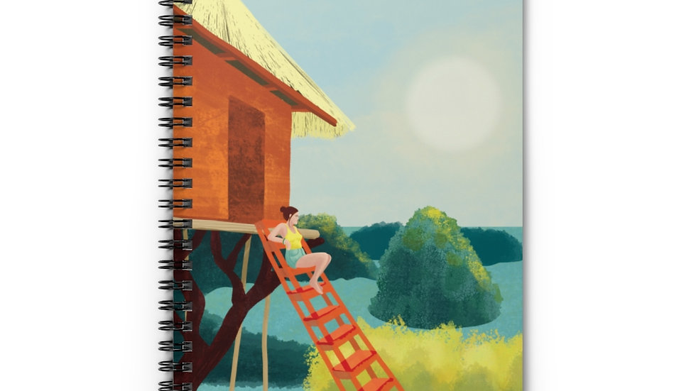 """Sunset in Bali"" - Spiral Notebook"