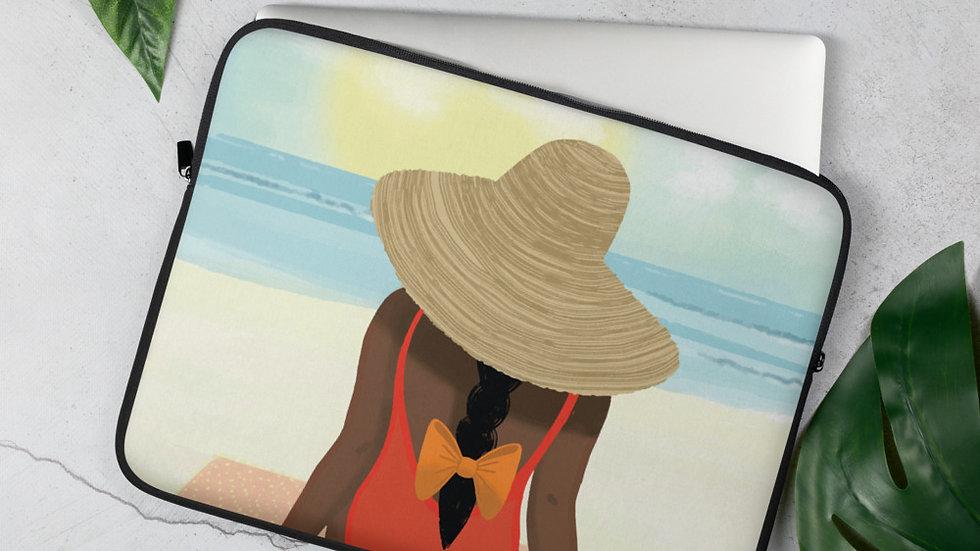 """""""Guadeloupe sunset white"""" - Laptop Sleeve"""