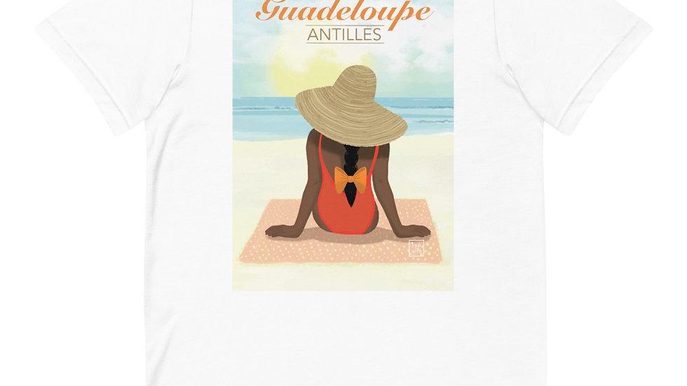 """""""Guadeloupe sunset white"""" - Women T-Shirt"""