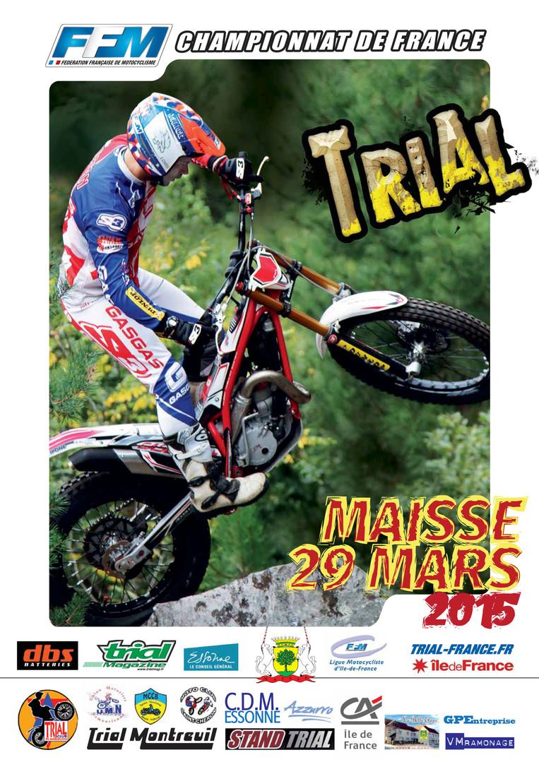 Affiche championnat de France Maisse 2015