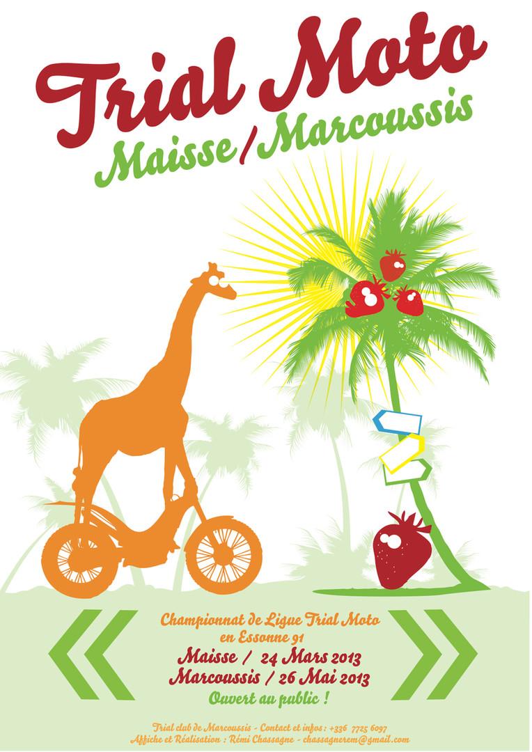 Affiche Trial Maisse et Marcoussis 2013.