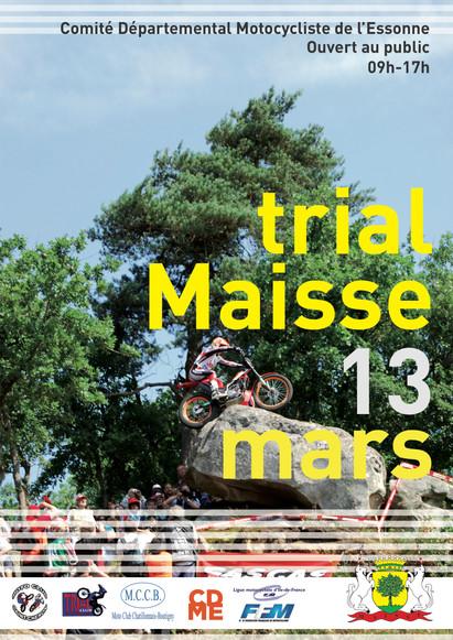 Affiche championnat de France trial Maisse 2012