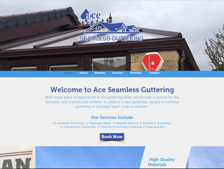 Latest website for local guttering installation business