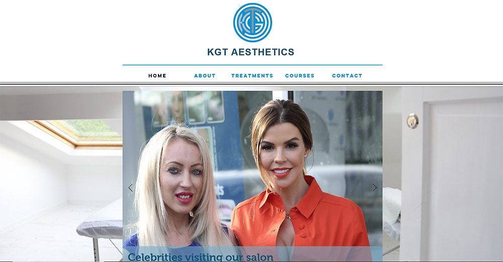 KGT Aesthetics website