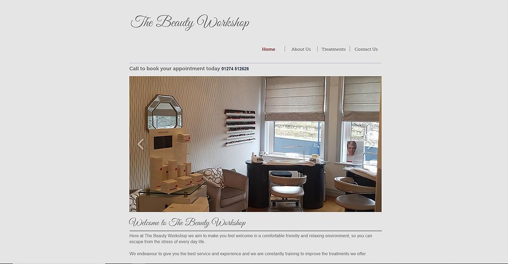 The Beauty Workshop website
