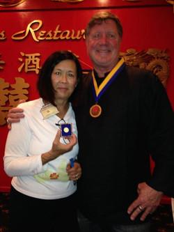 Rhonda & Past Pres Jeff PH award