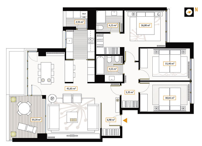 Vivienda 3 dormitorios