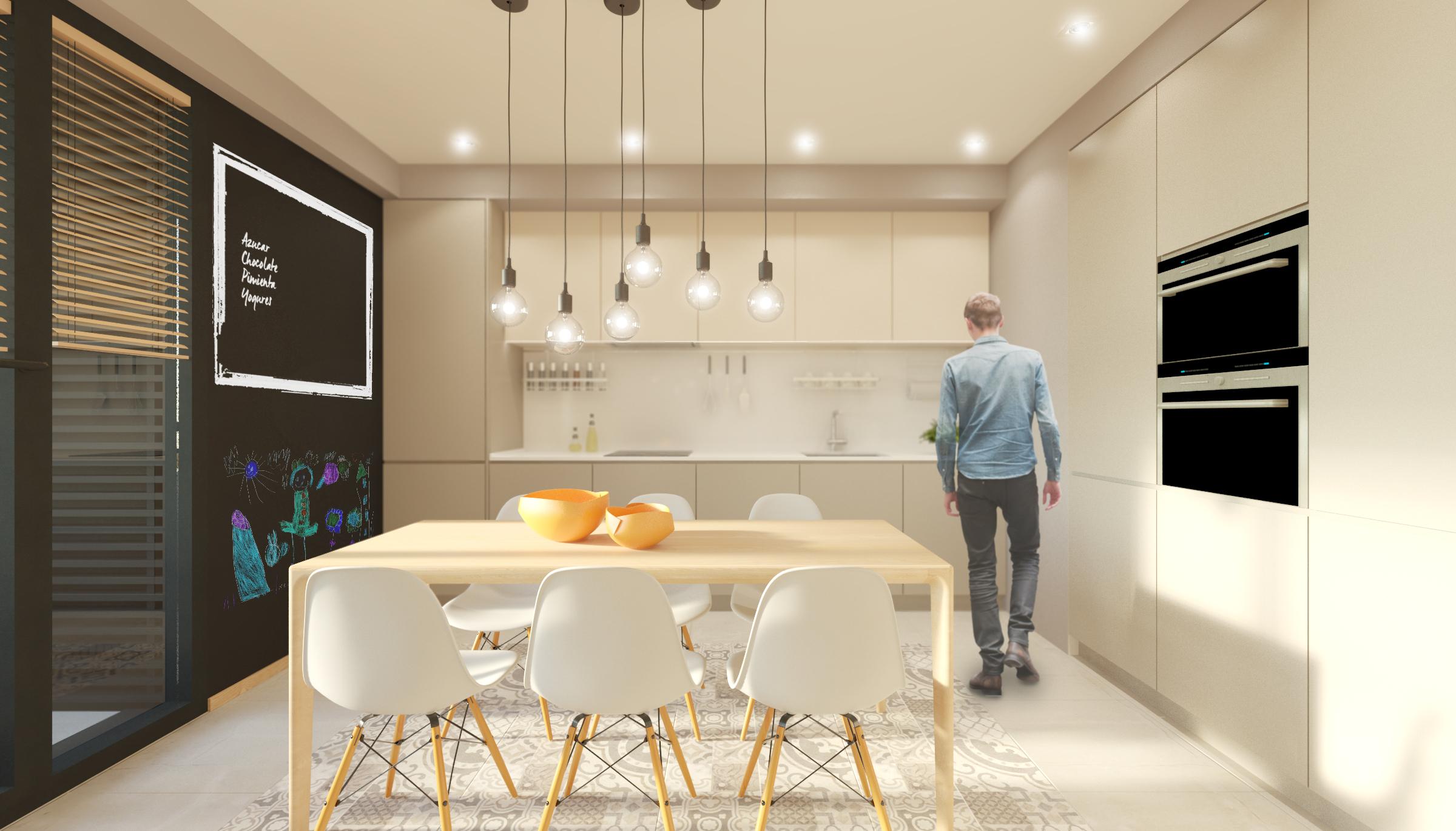 cocina 4 dormitorios