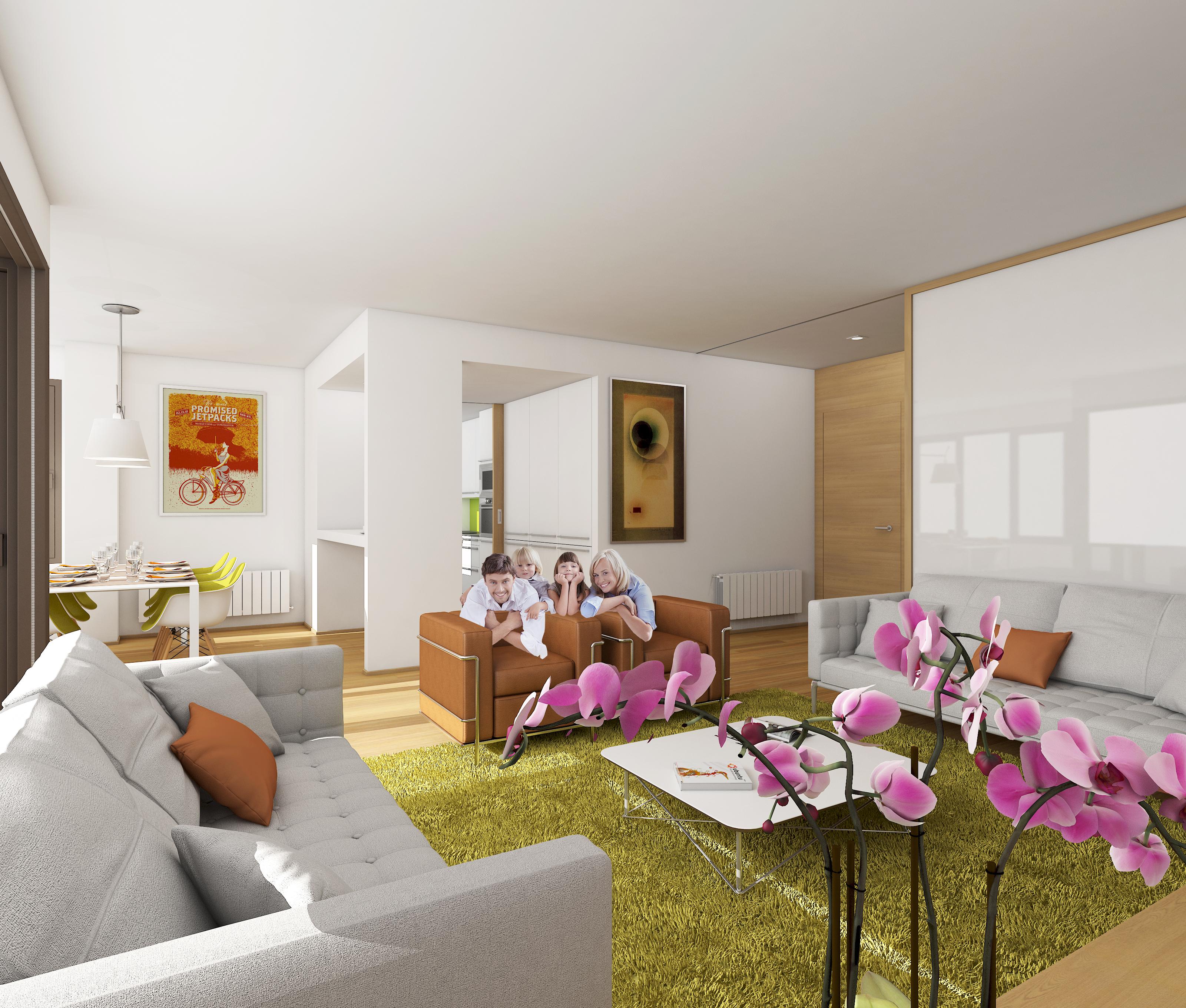 Interior de los pisos