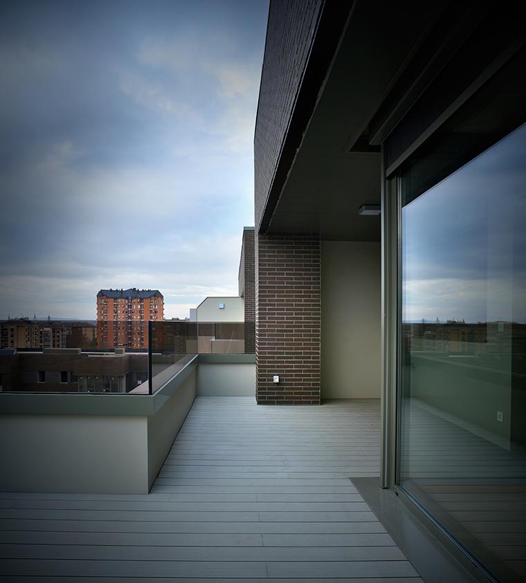 Áticos con grandes terrazas