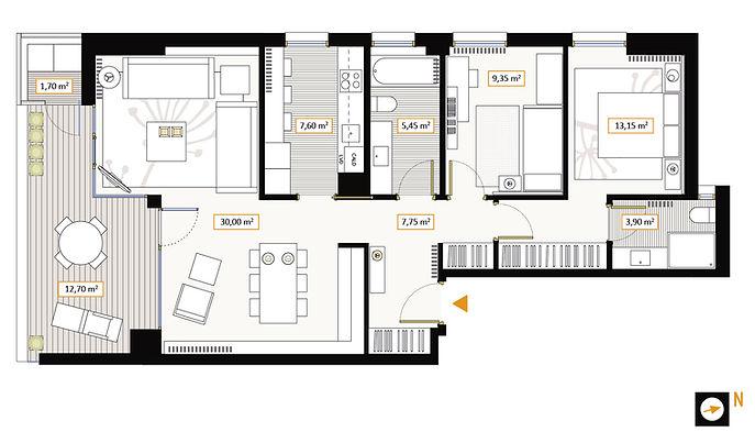 Vivienda 2 dormitorios