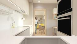cocina b 3 dormitorios
