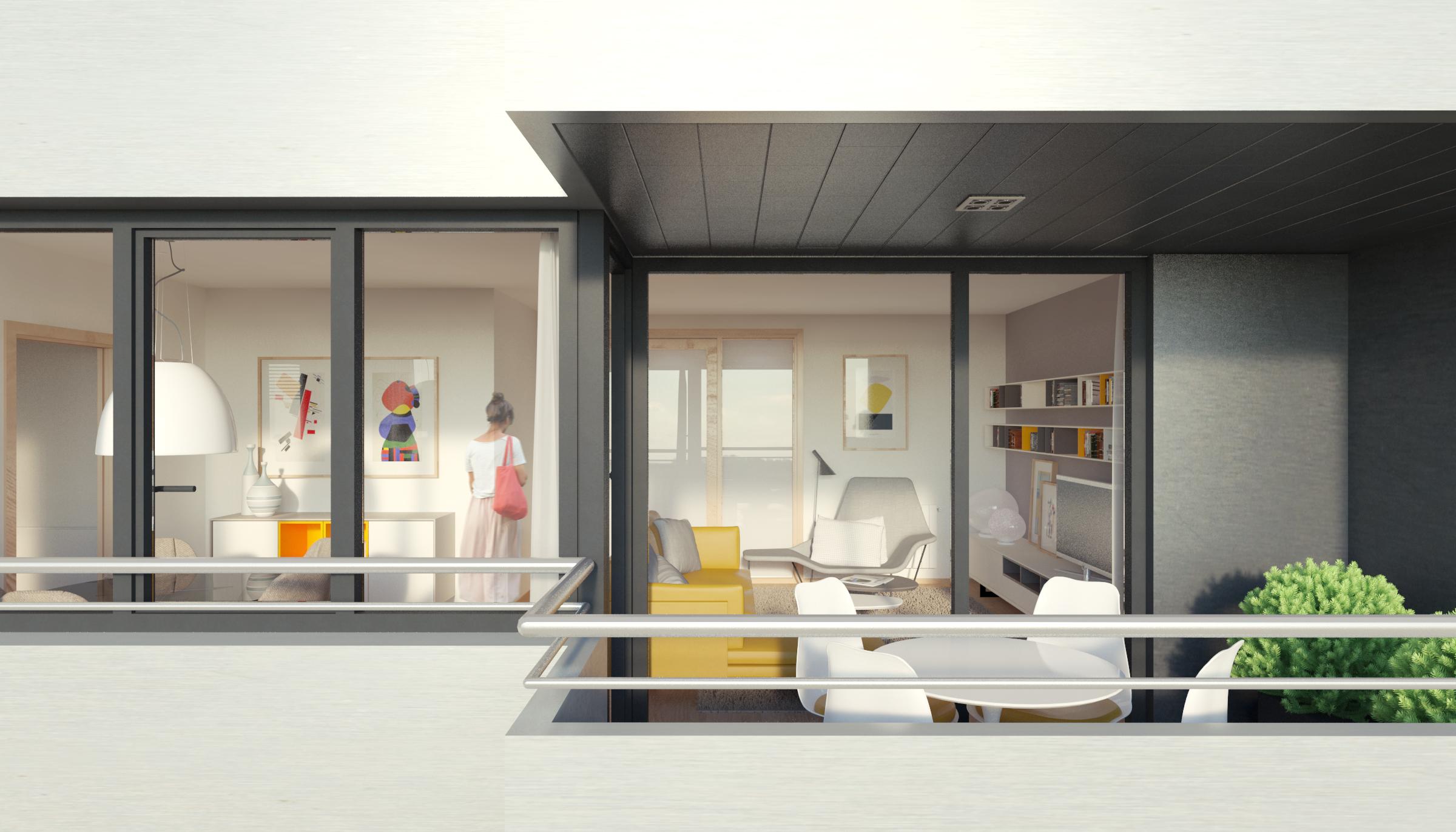 terraza 3 dormitorios