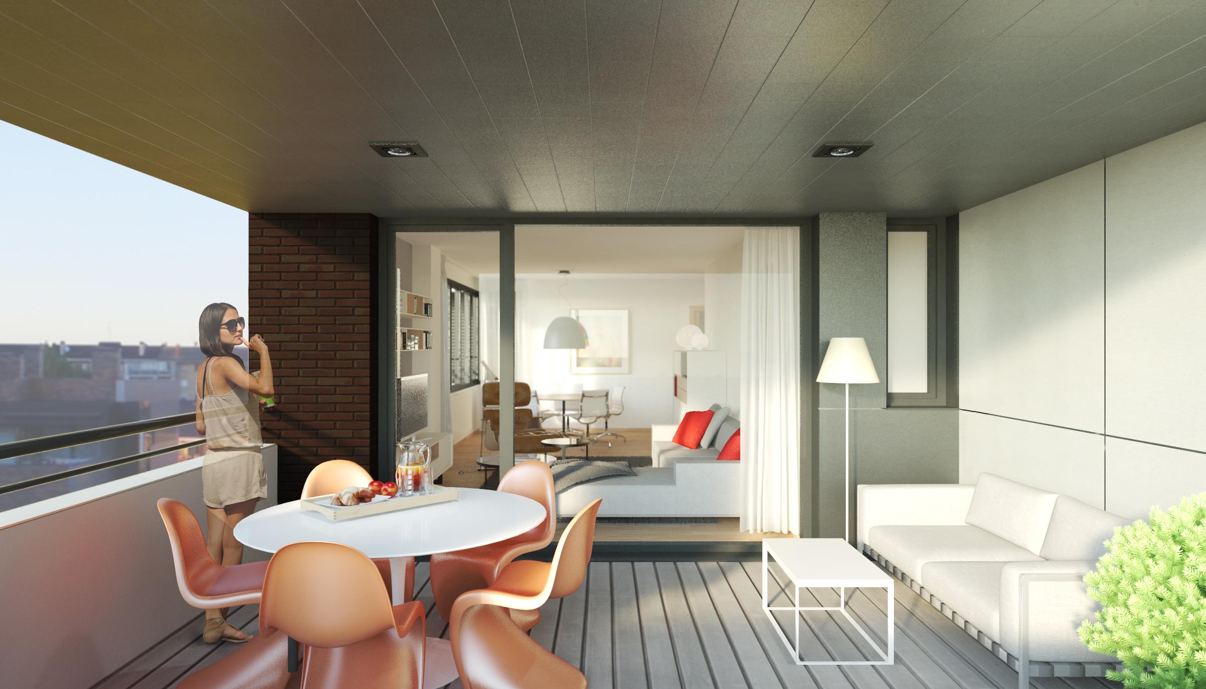 terraza 4 dormitorios