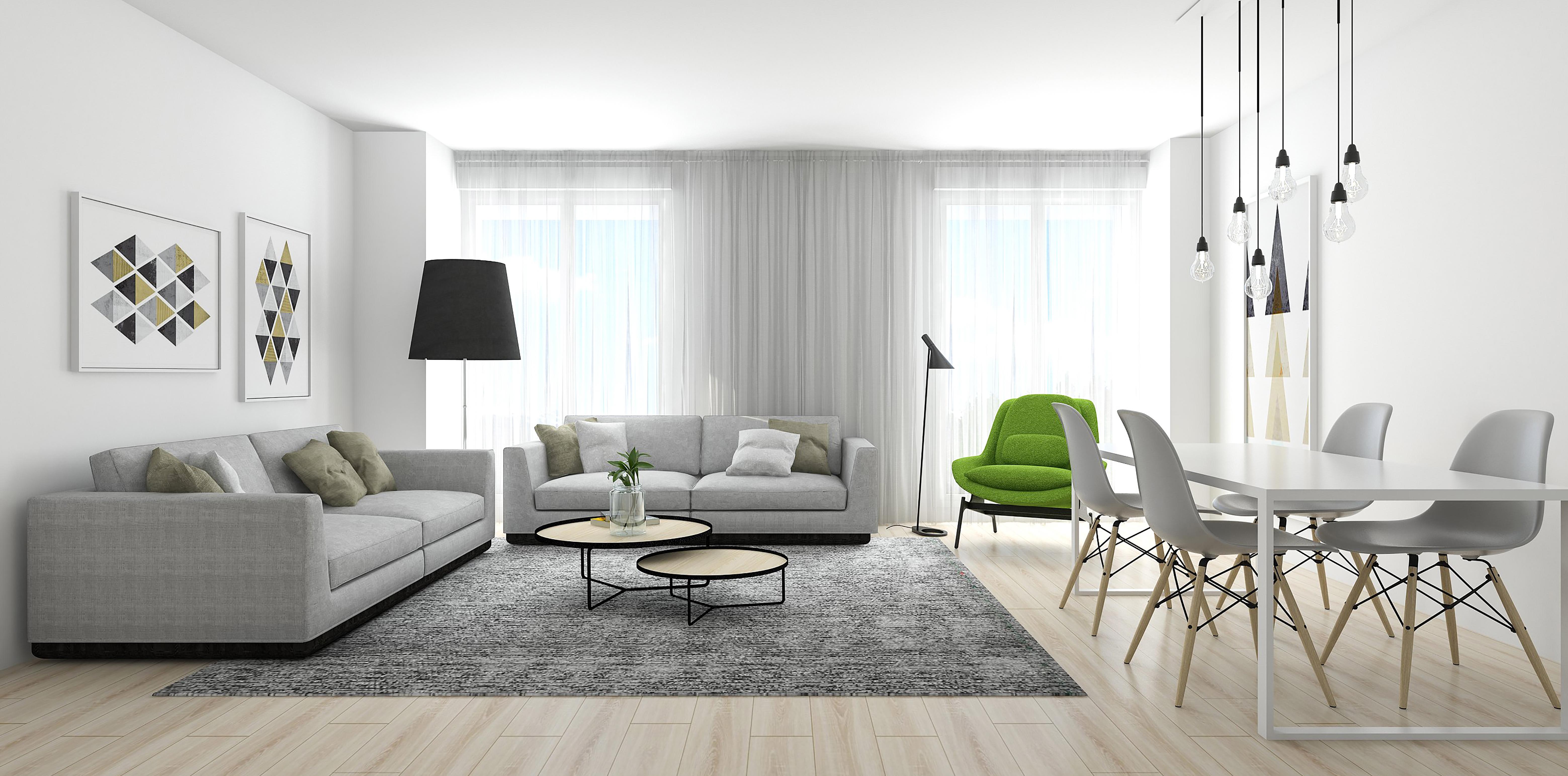 Salón vivienda 3 dormitorios
