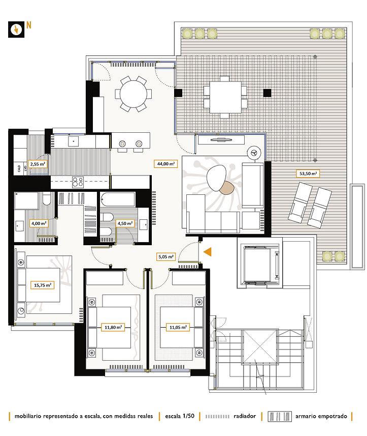 Ático 3 dormitorios