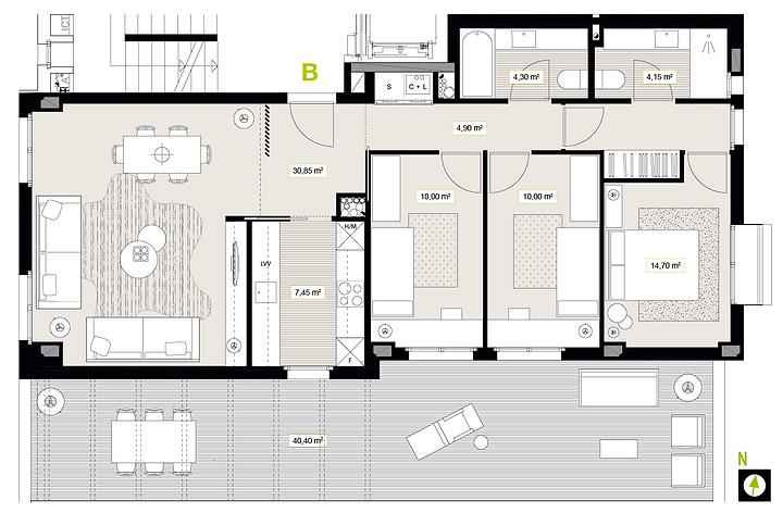 Vivienda tres dormitorios en Murgia