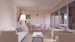 Salón amplio y luminoso