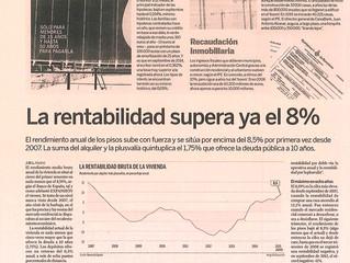 La vivienda, una inversión cada vez más atractiva. La rentabilidad supera ya el 8%