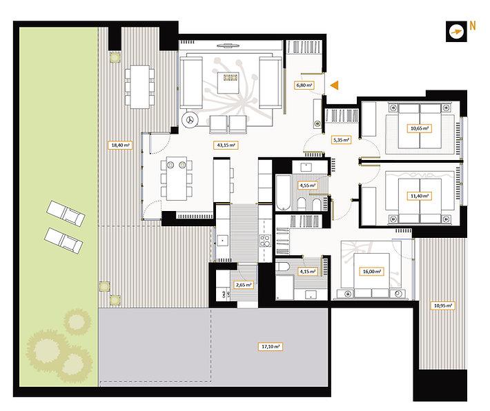 Planta baja 3 dormitorios