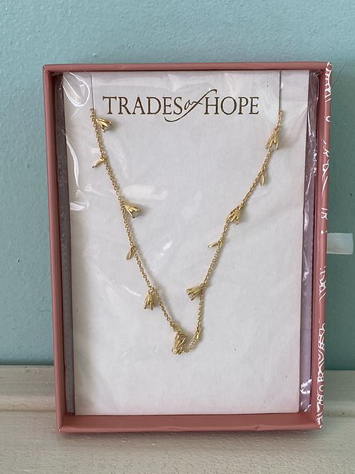 Golden Blossom Necklace - Trades of Hope