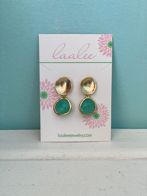 Laalee ~ Aqua Blue Shell Earrings