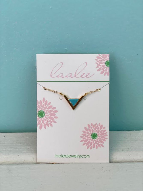 Laalee ~ Gold Triangle Necklace