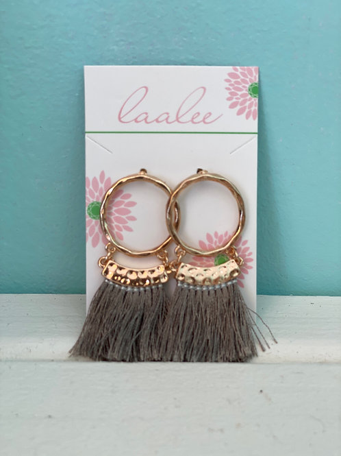 Laalee ~ Fringe Hoop Earrings