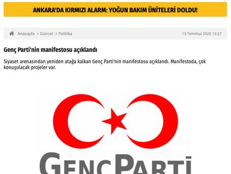 Genç Parti'nin manifestosu açıklandı