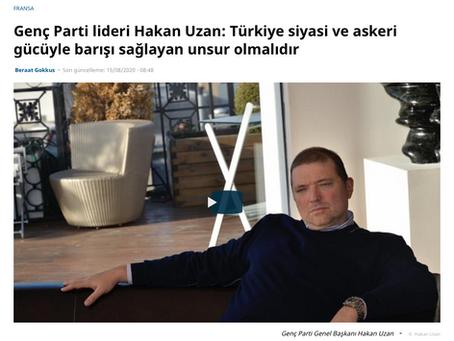 Genç Parti Genel Başkanı Hakan Uzan euronews'e konuştu