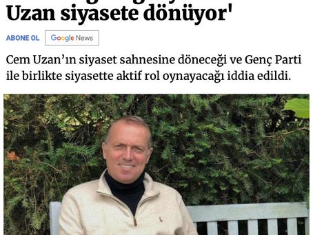 Orhan Uğuroğlu yazdı! 'Cem Uzan siyasete dönüyor'