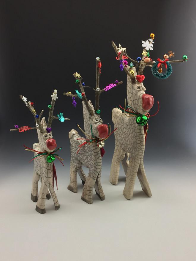 Rudy the Raku Reindeer
