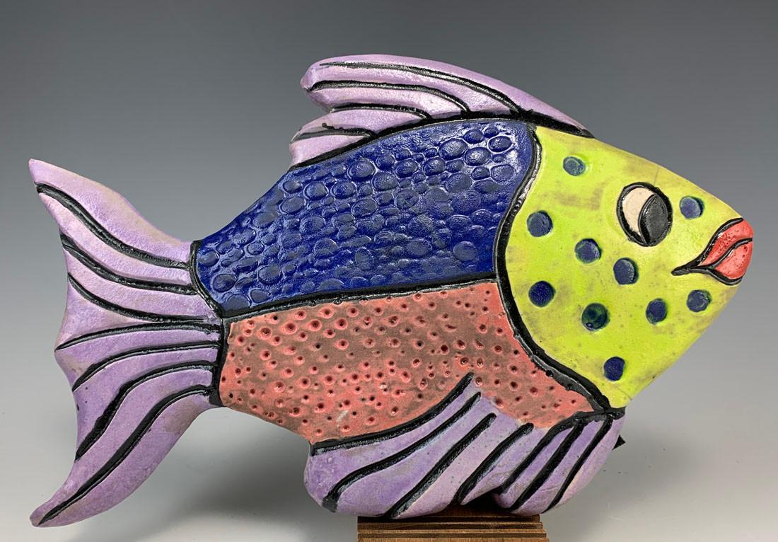 Raku Fish Wall Tile