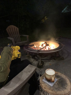 How do you get your fire going? We love modern technology and our battery operated leaf blower.