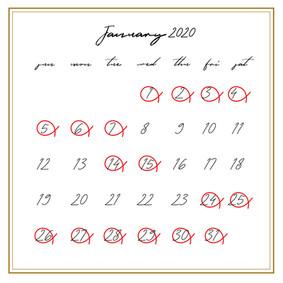 2020年1月のお知らせ(2020.01.12)