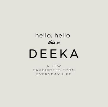 初めまして。DEEKAです (2019.06.27)