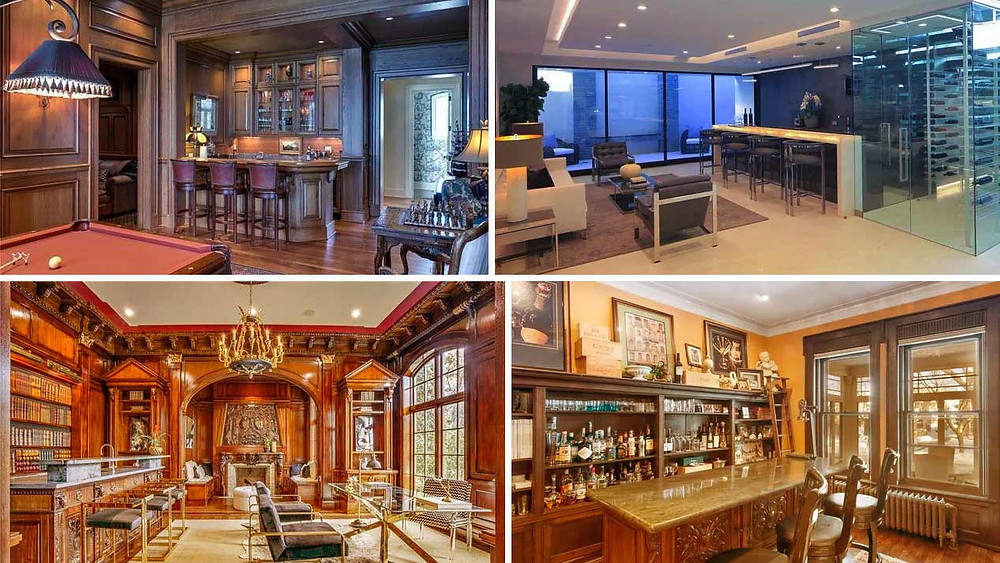homes with home bars