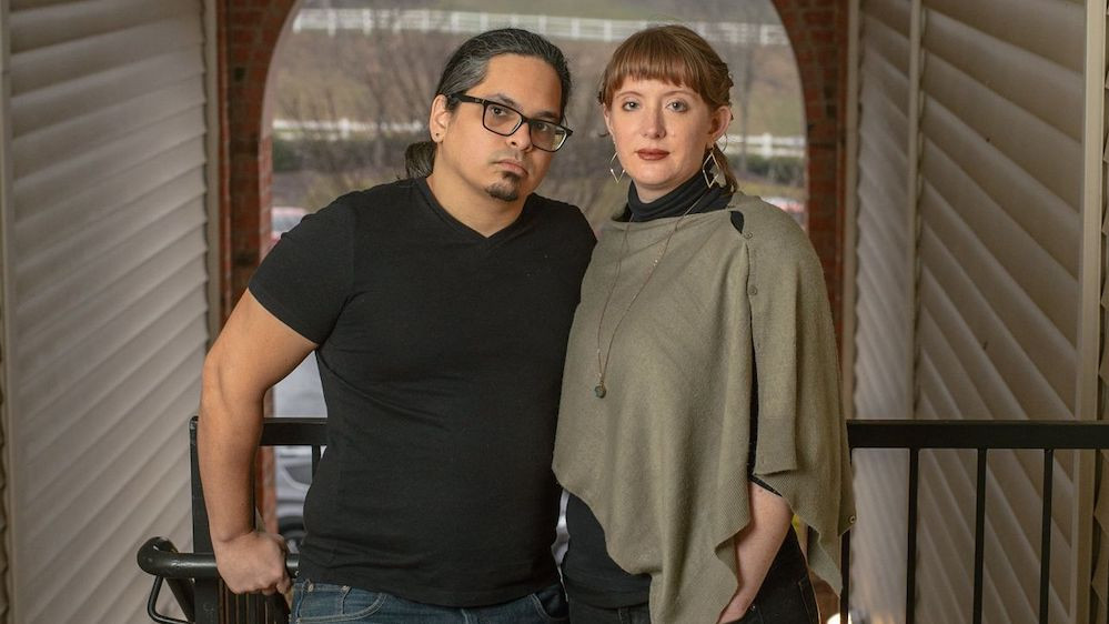 Husband and wife Alex Ruiz and Stephanie Johnson rent an apartment in Asheville, N.C., but hope to own a home.