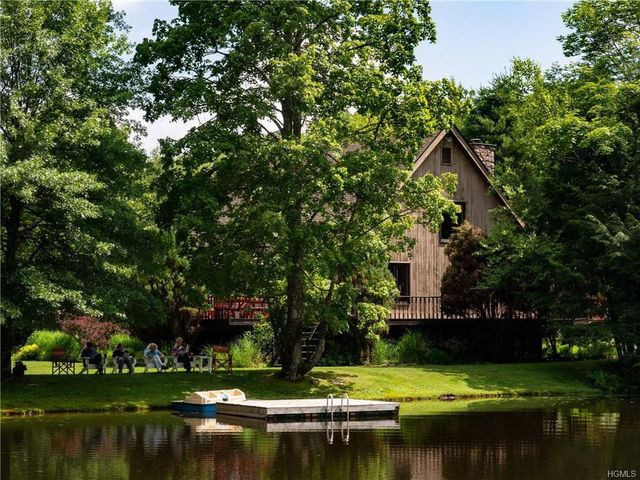 home with pond in Bethel, NY