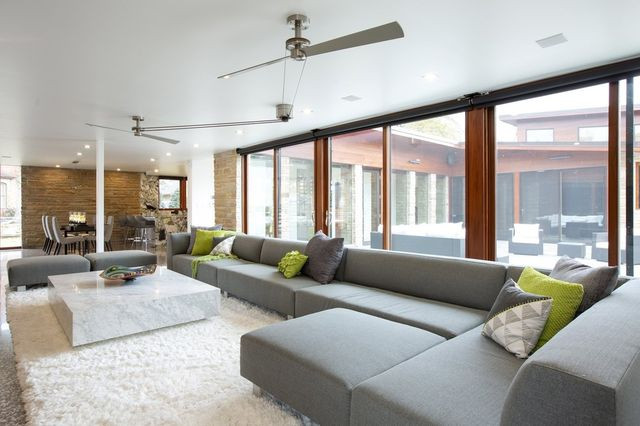 The main living area of the Freeman home. The couple renovated the 1950s Midcentury Modern home to create a comfortable downtown retreat.