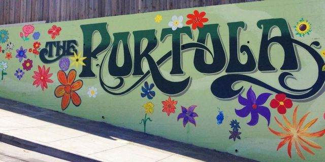 Portola painted sign