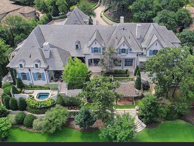 Exterior of Westlake, TX mansion