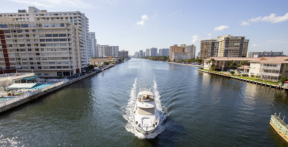 With waterside land scarce in Miami proper, developers are looking north to a small community called Hallandale Beach.