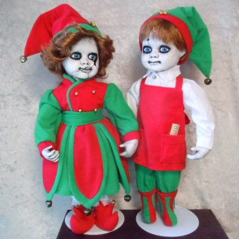 creepy christmas decor