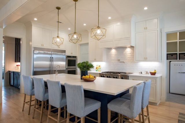 The Grochowski kitchen in the 5,000-square-foot house, built by Fort Worth-based Village Homes and completed last year.