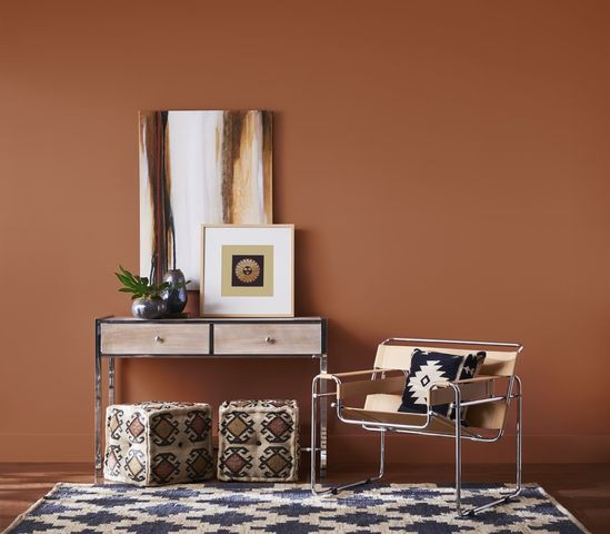 Brown walls with Southwestern accents