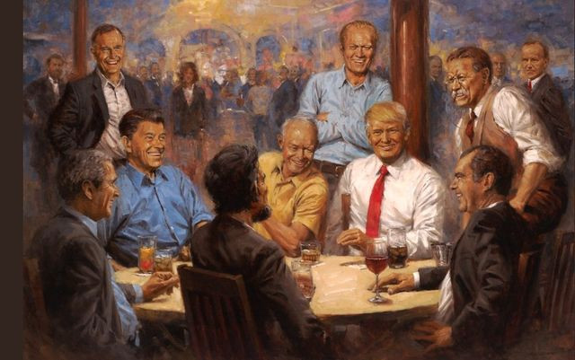 donald trump painting