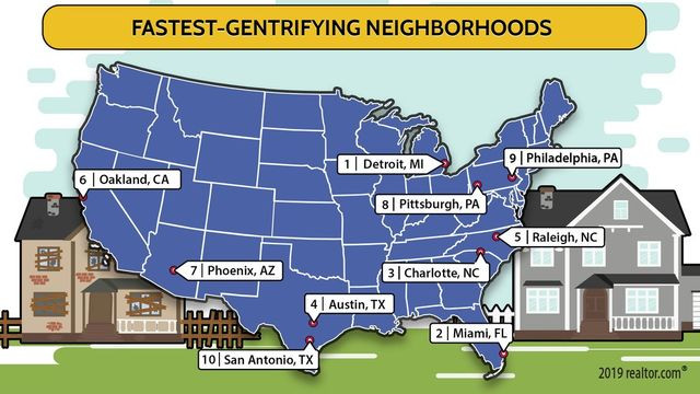 Fastest Gentrifying Neighborhoods